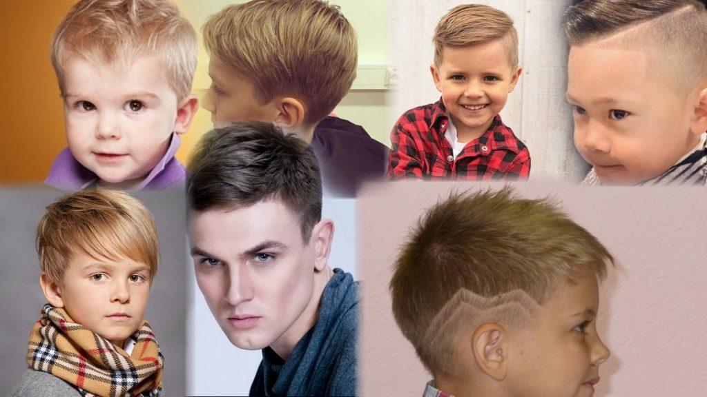 Модельная стрижка для мальчика фото