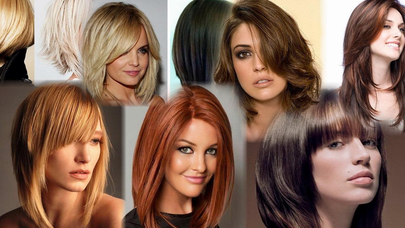 Модные прически на среднею длину волос фото