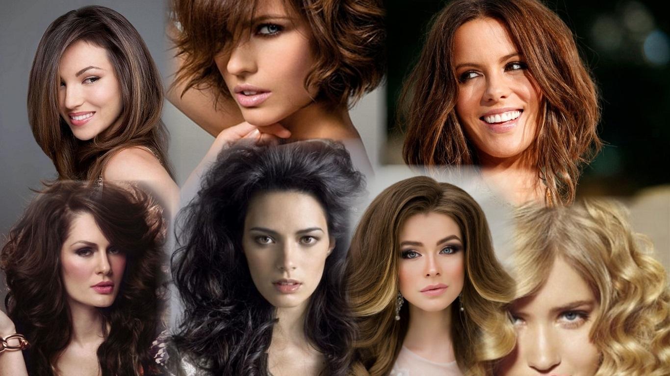 Объемные прически на средние волосы фото
