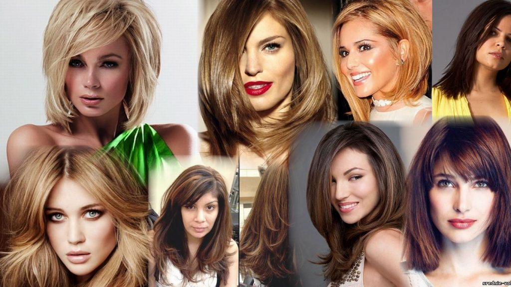 Объемные стрижки на средние волосы фото