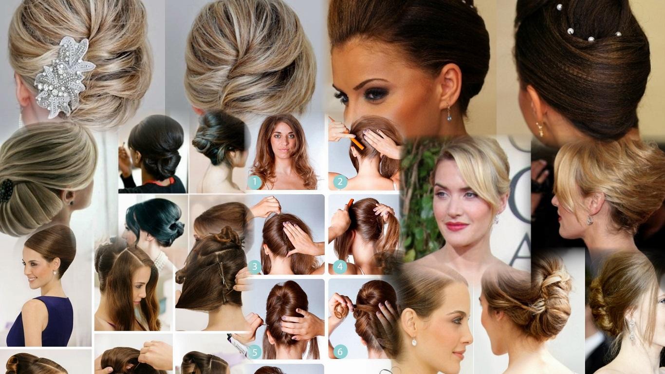 Причёски на быструю руку для средних волос фото