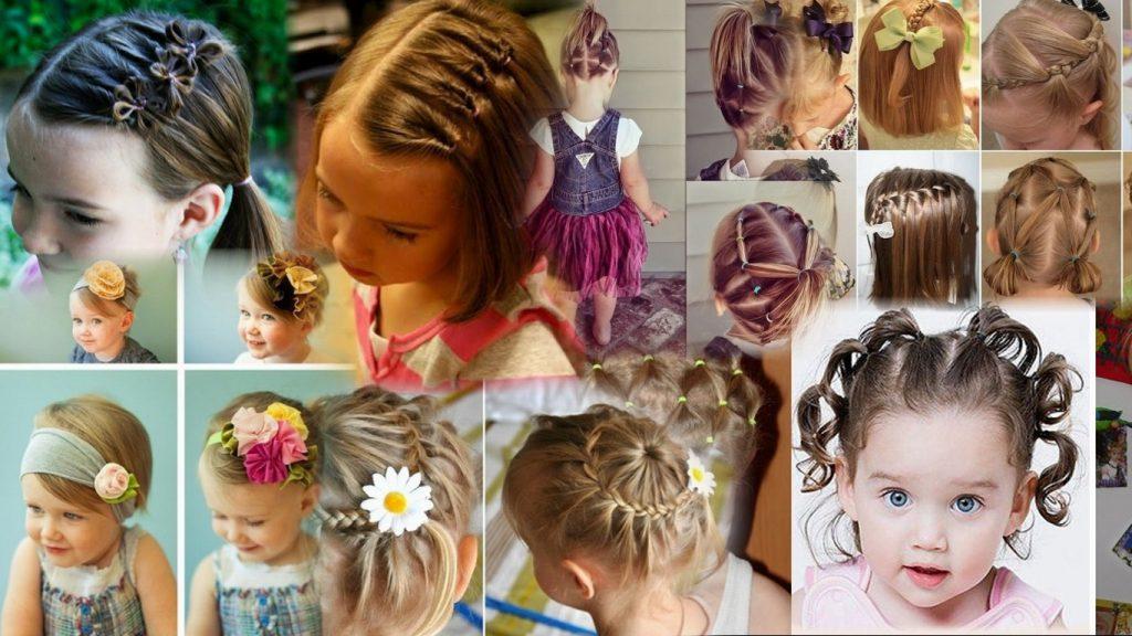 Прически для девочек на короткие волосы фото