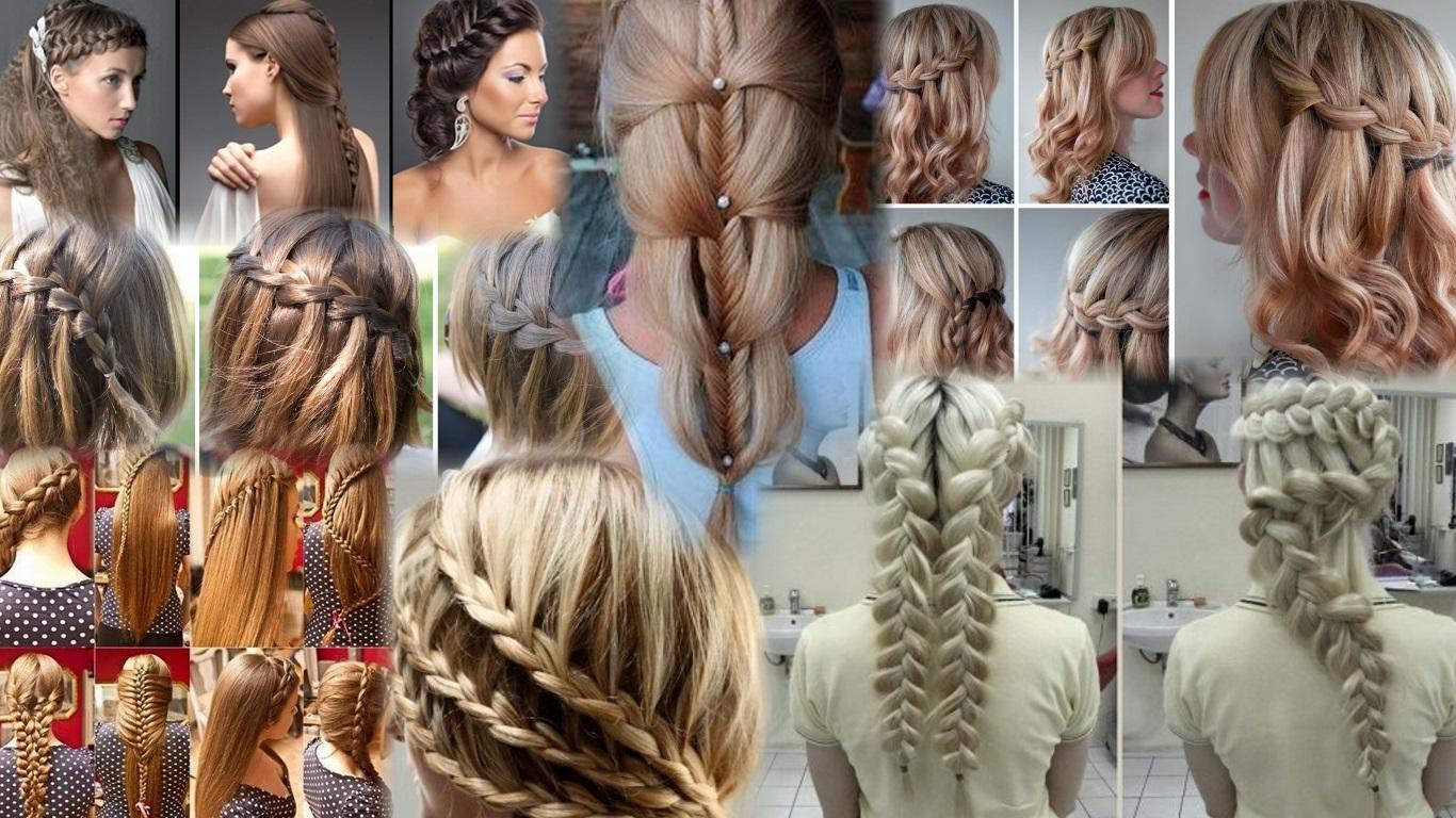 прически длинные волосы колосок фото