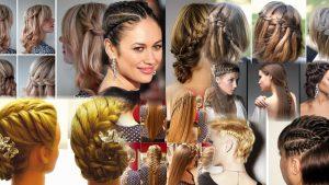 Прически колоски на средние волосы фото