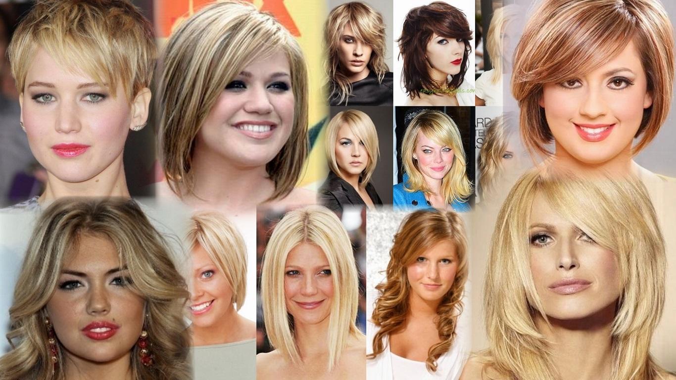 Прически на каждый день на средние волосы с круглым лицом фото
