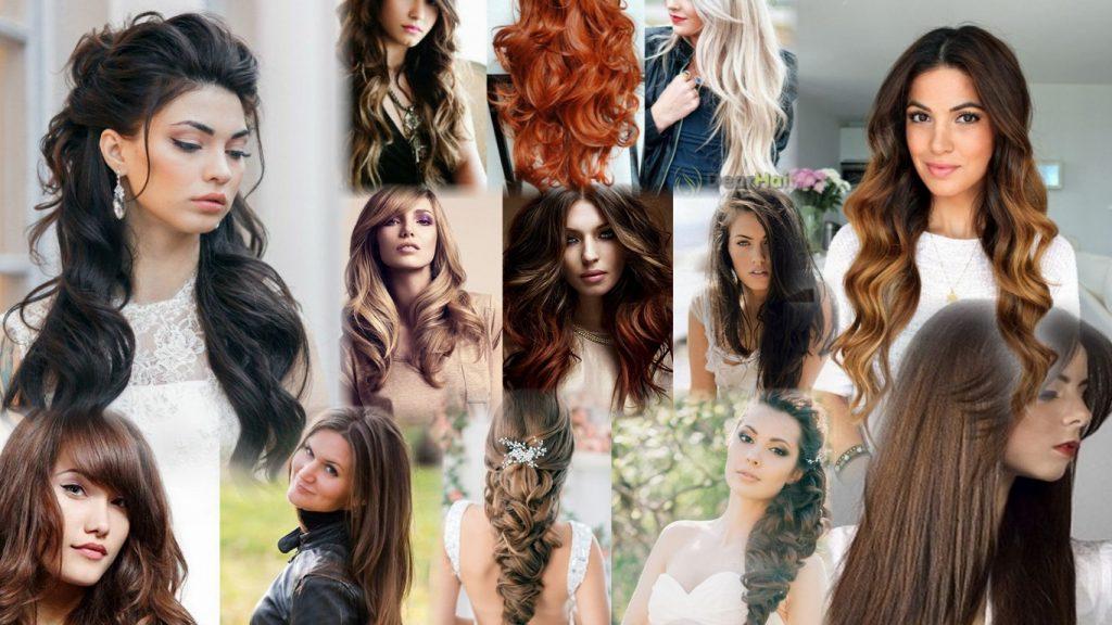 Прически на длинные густые волосы фото