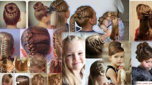 Прически на средние волосы фото для девочек