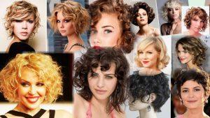 Прически на средние вьющиеся волосы фото