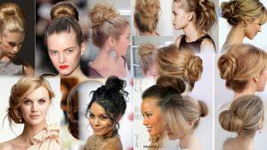 Прически пучки на средние волосы фото