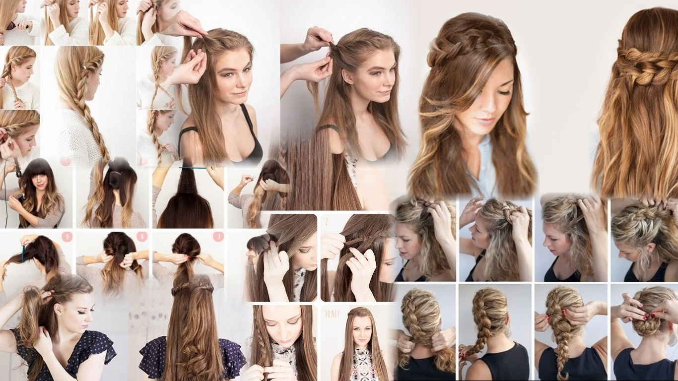Как красиво уложить длинные волосы фото домашних условиях