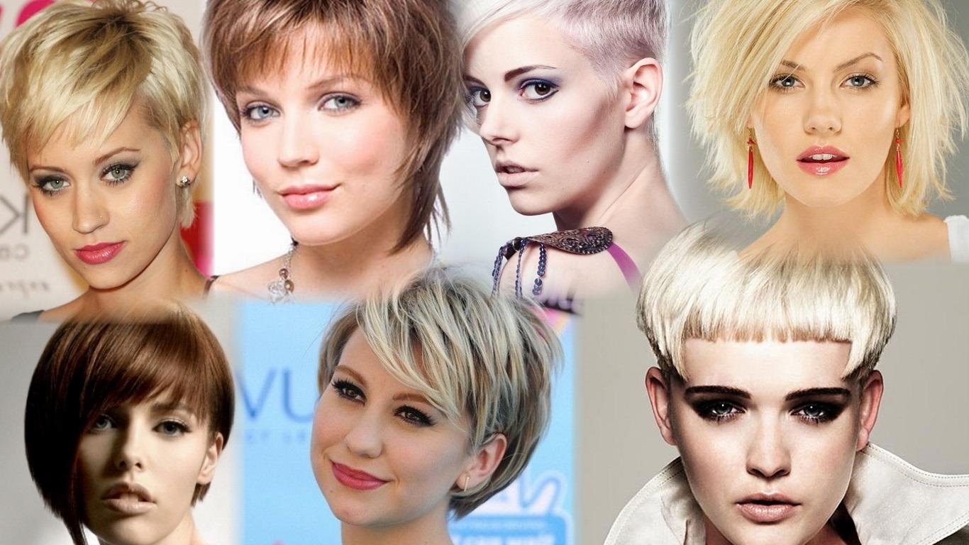 Короткие причёски женские фото для худого лица