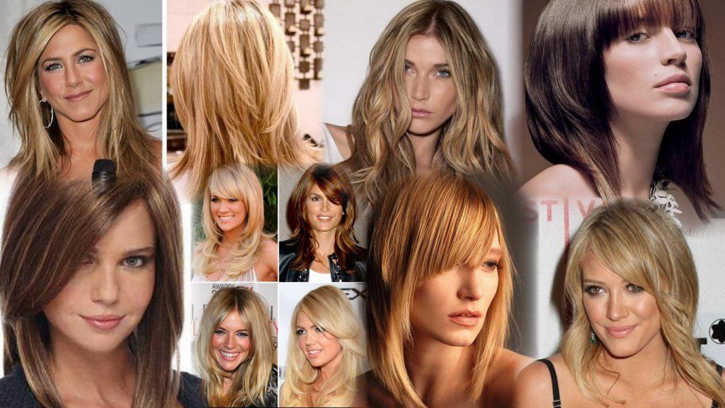 Современные стрижки на средние волосы фото