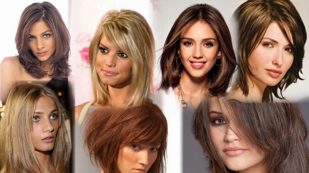 Стильные стрижки на волосы средней длины фото