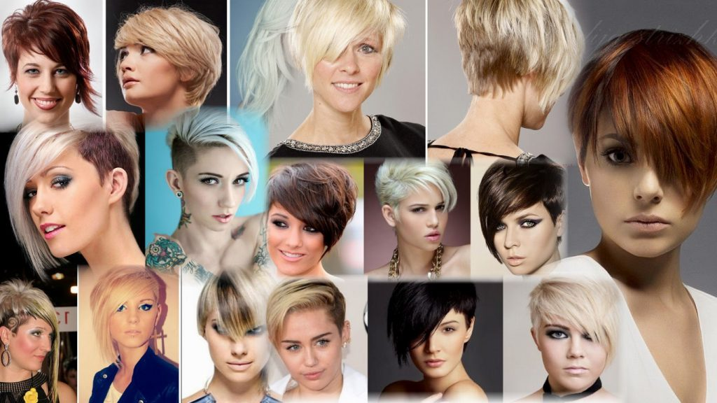 Стрижка асимметрия на короткие волосы фото