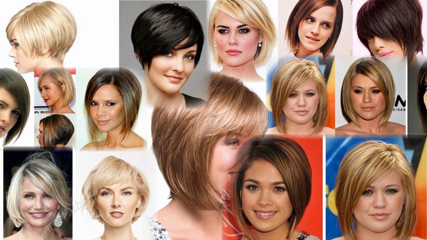 Причёски для круглолицых фото