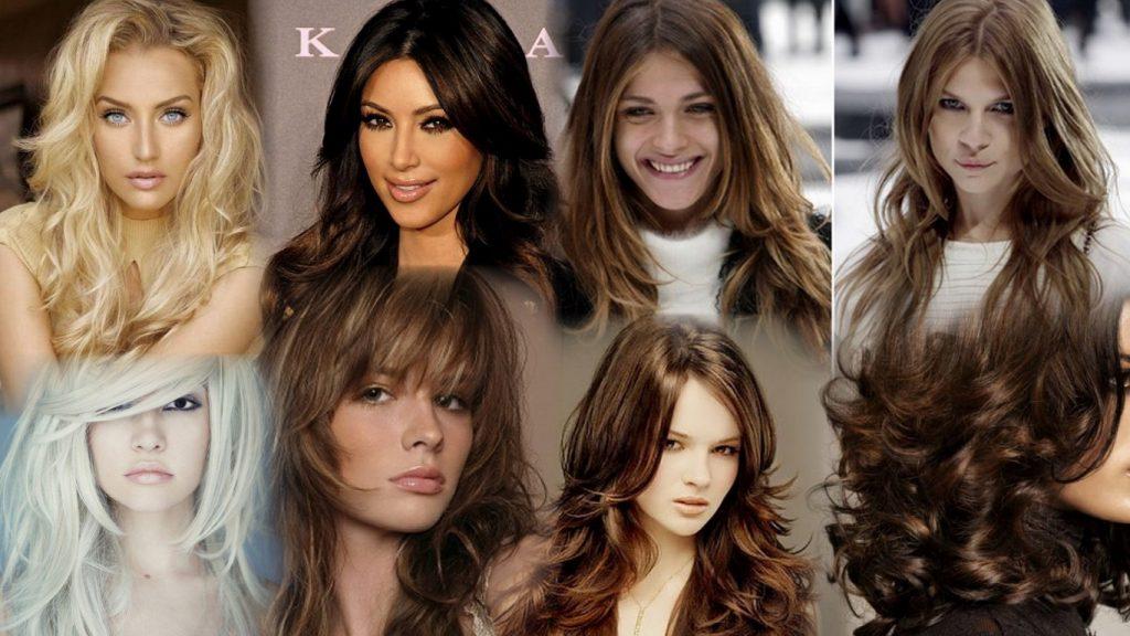 Стрижка итальянка на длинные волосы фото