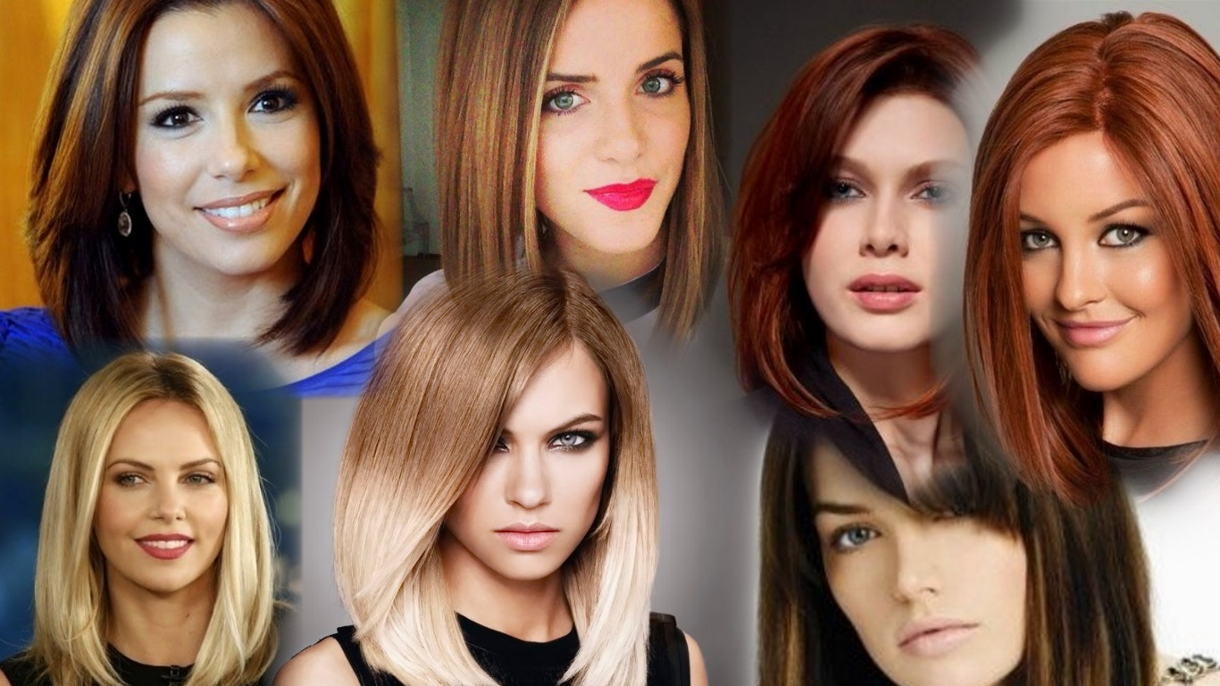 Модные стрижки на средние волосы фото, красивые 19