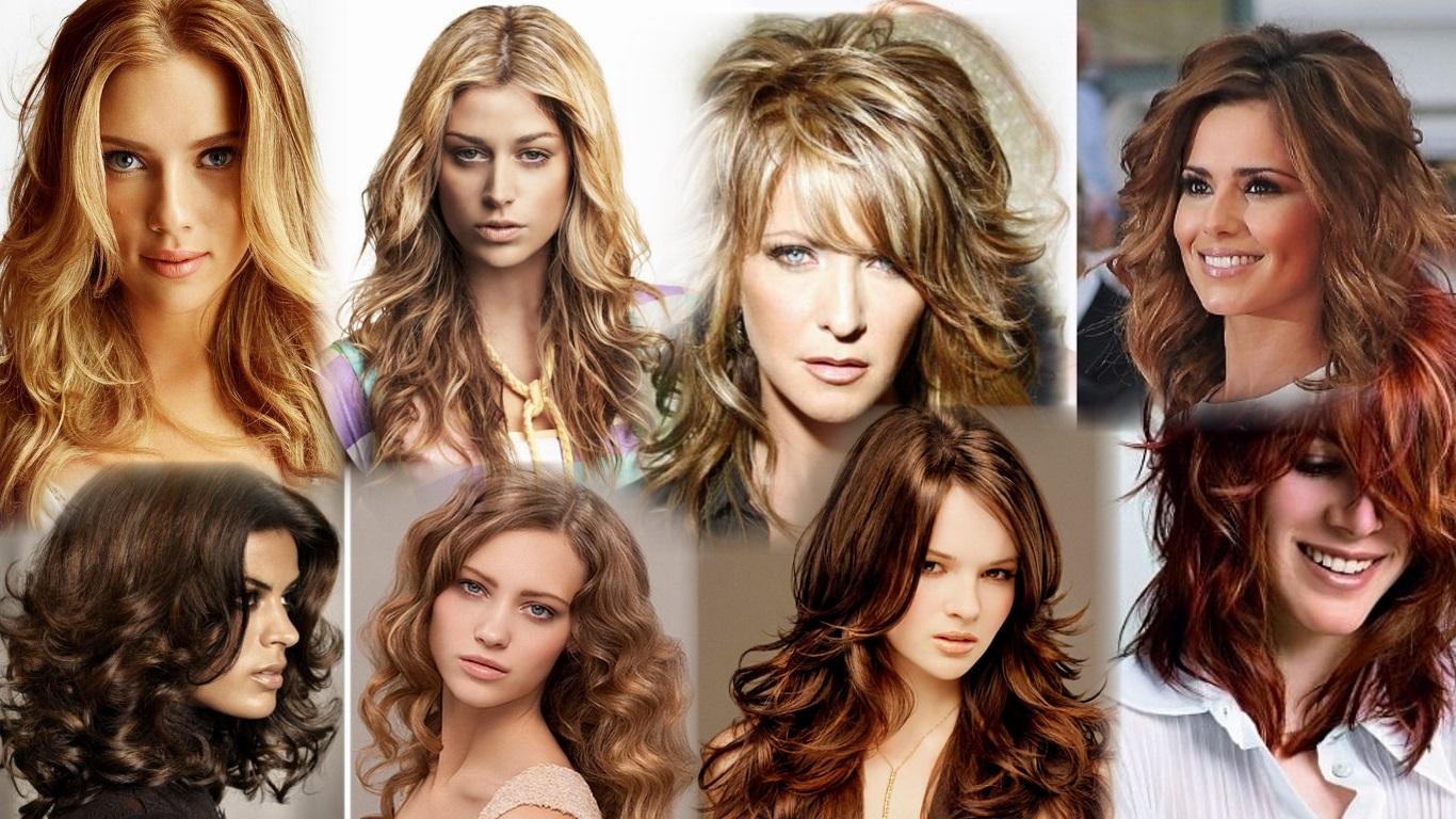стрижка каскад на средние волнистые волосы