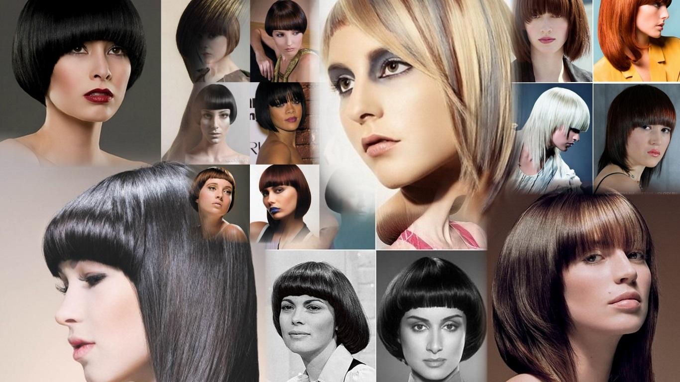 Стрижка Паж на средние волосы фото