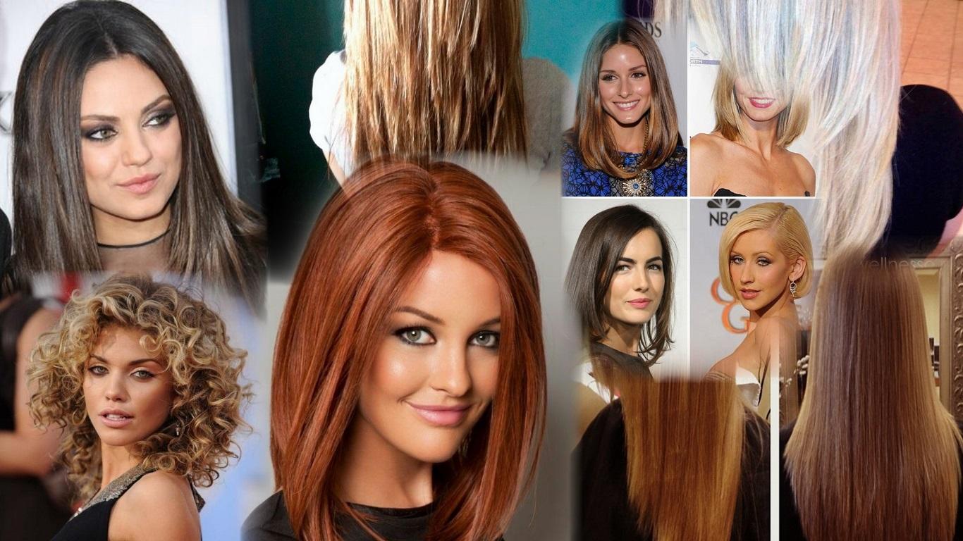 Полукруг на средние волосы