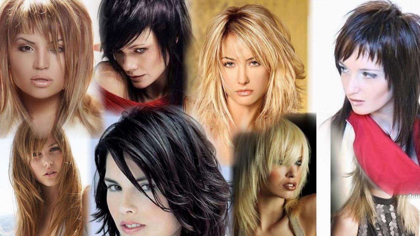 стрижки на средние волосы фото рванка