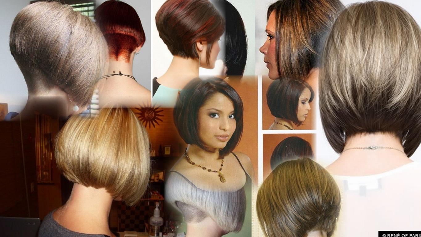 Стрижка боб каре на короткие волосы фото вид спереди и сзади