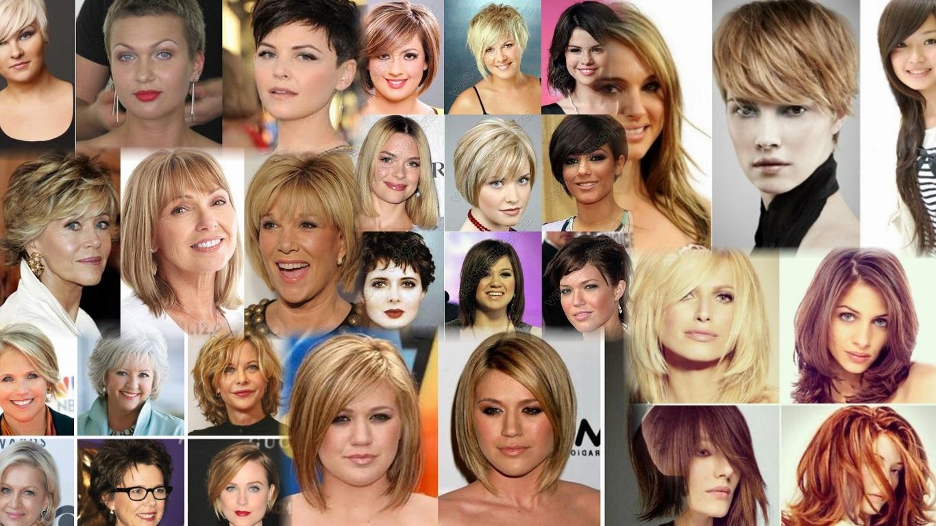 Причёски под круглое лицо