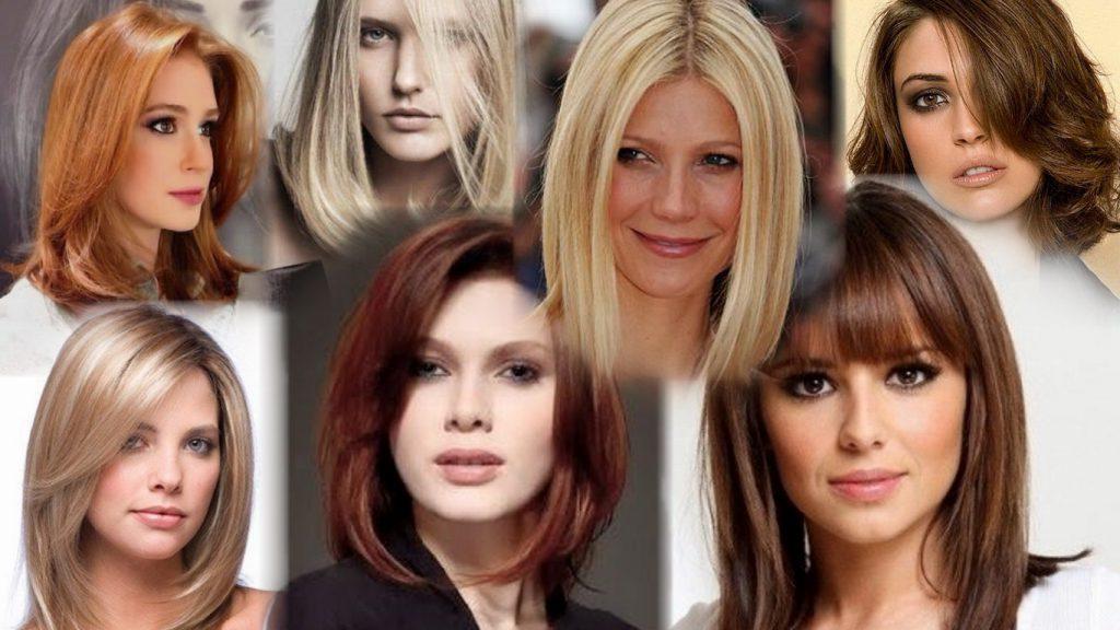 Стрижки для средней длины волос фото