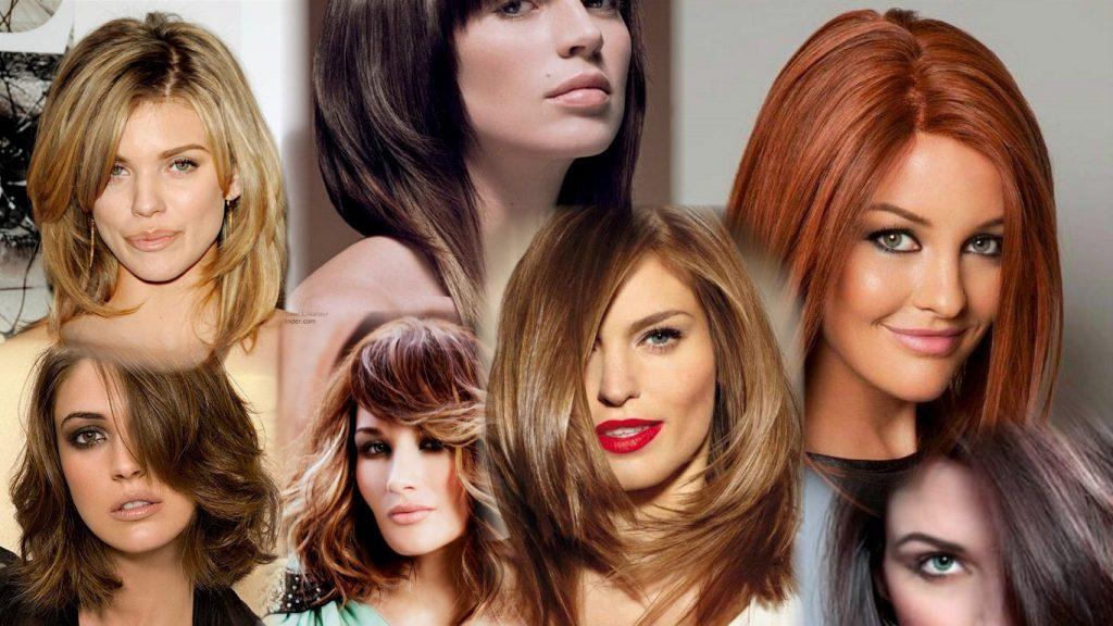 Стрижки для средних волос фото