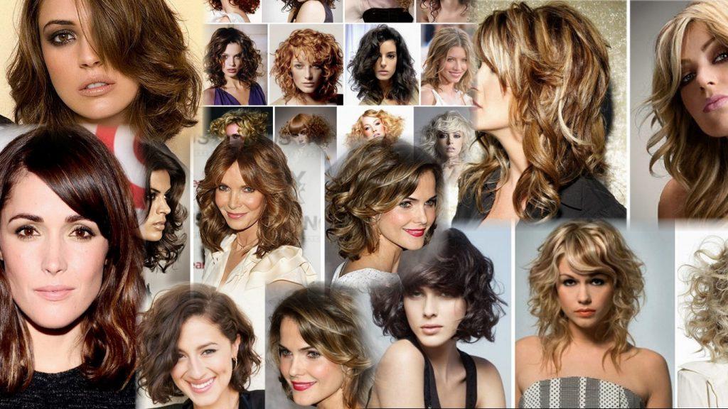 Стрижки на кучерявые волосы средней длины фото