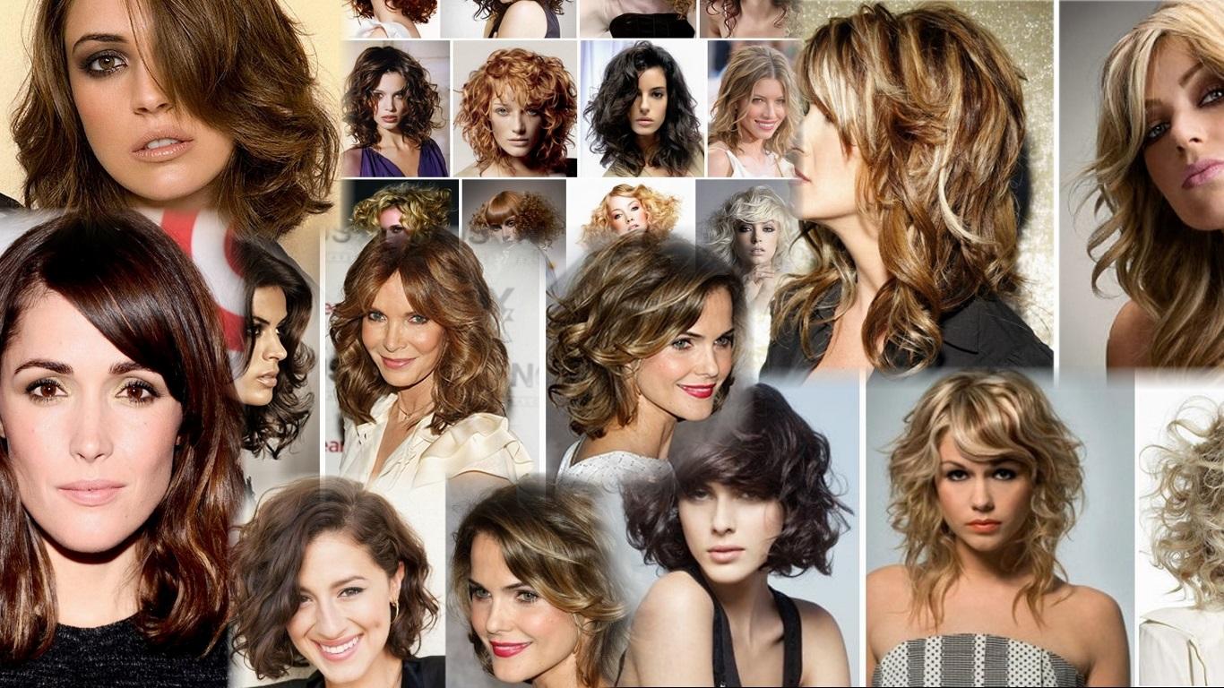 Прически на вьющееся волосы фото