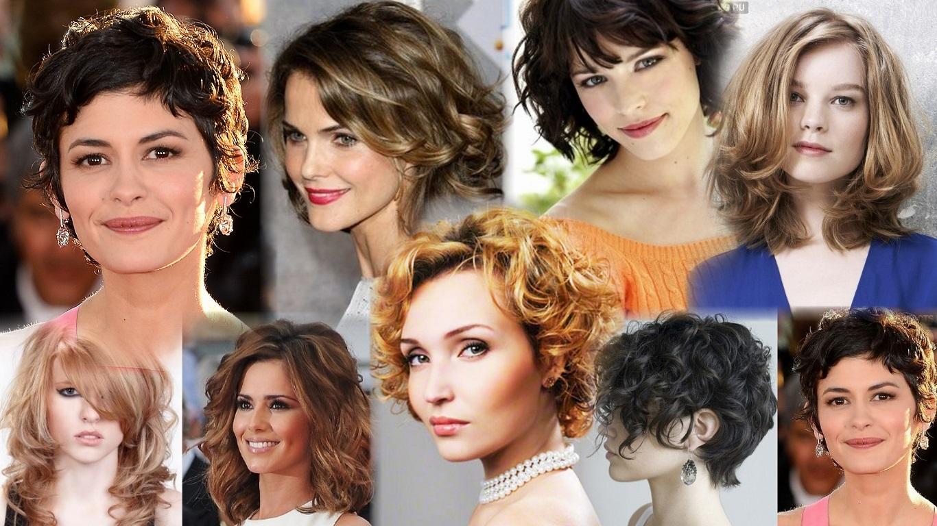 Повседневные прически для вьющихся волос средней длины фото