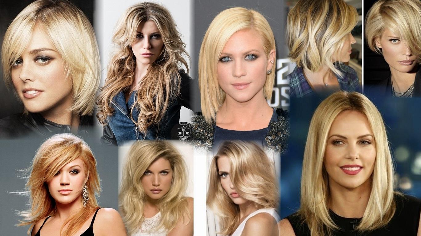 Стрижки на средние волосы блондинкам