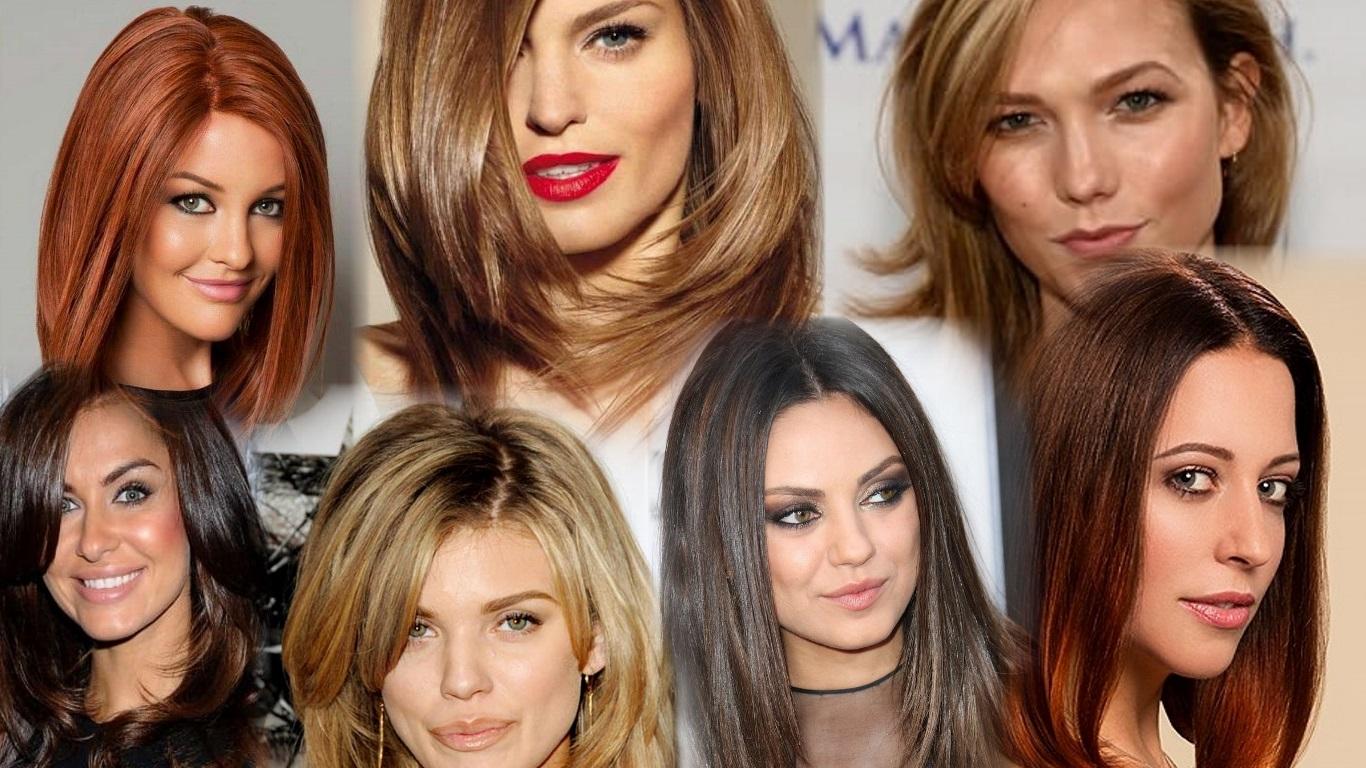 стрижки на густые средние волосы фото