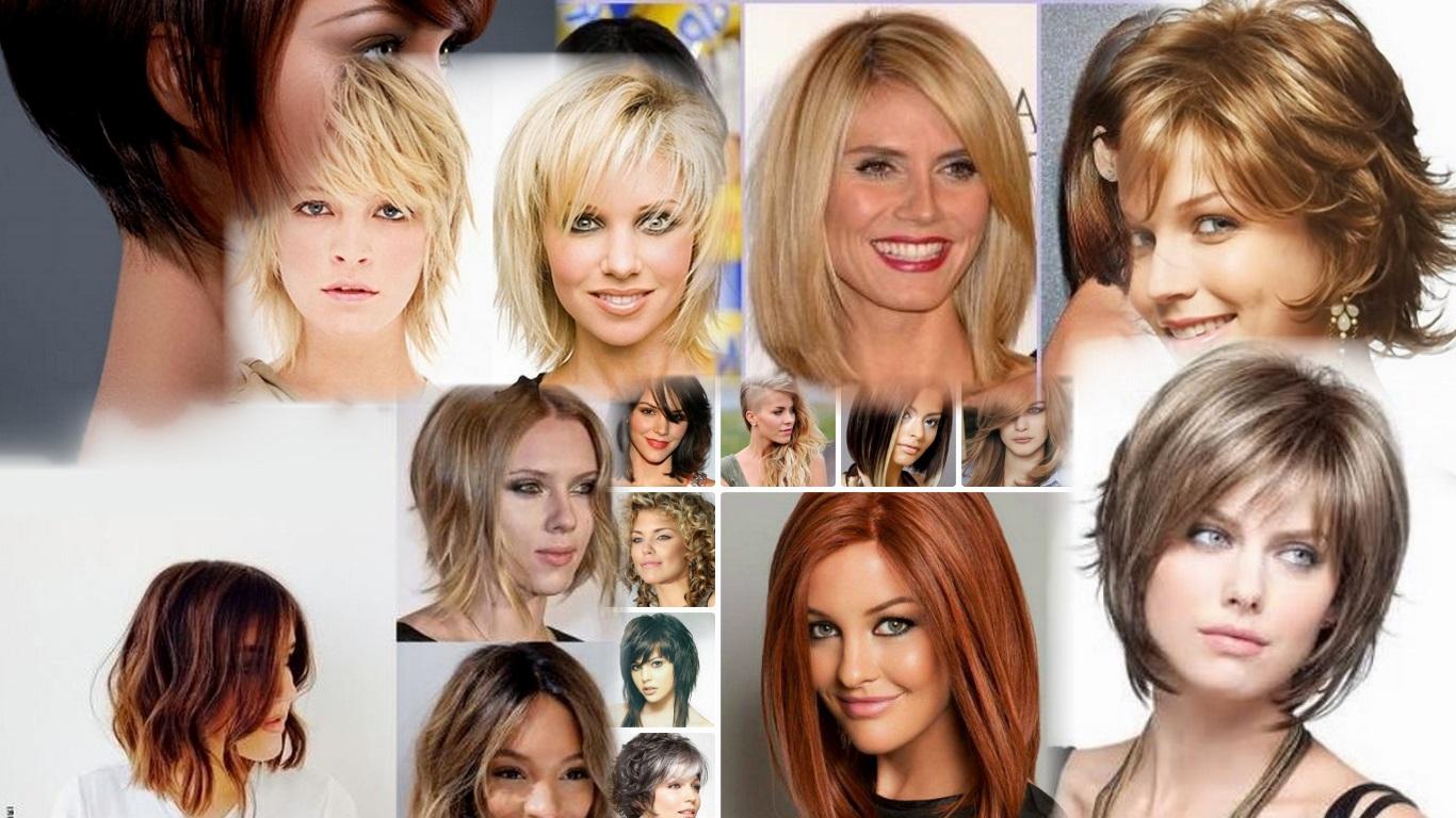 Прически на средние волосы. Более 35