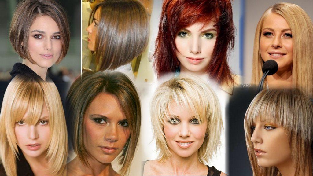 Стрижки на средние тонкие волосы фото