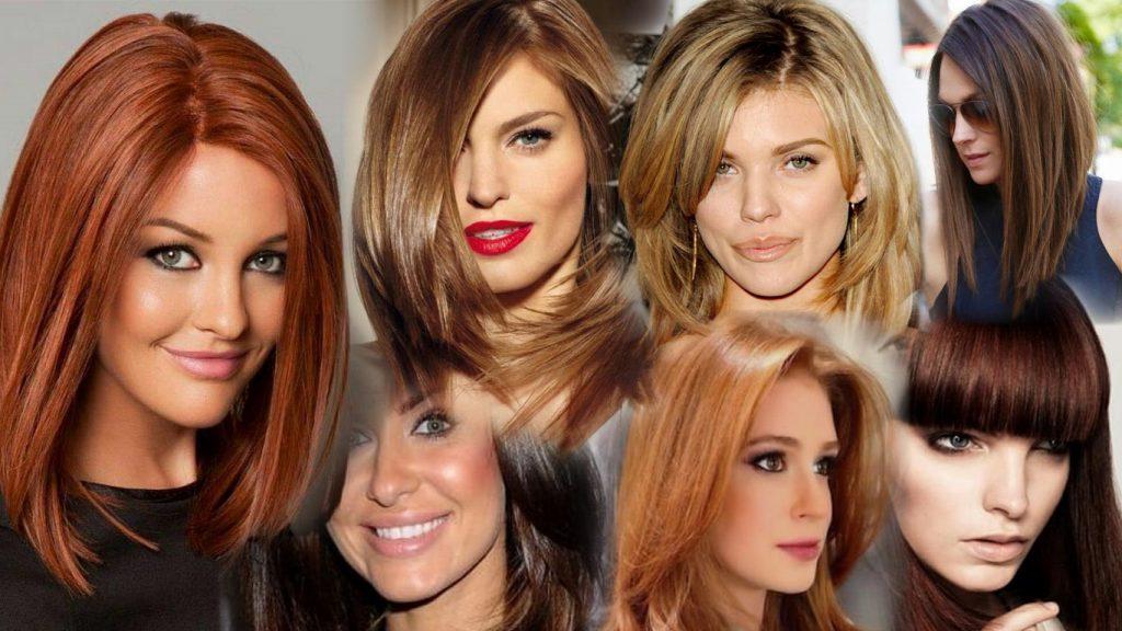 Стрижки средние волосы фото