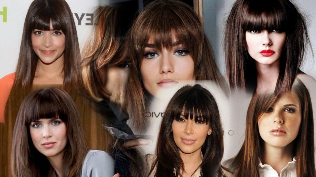 Стрижки с чёлкой на средние волосы фото