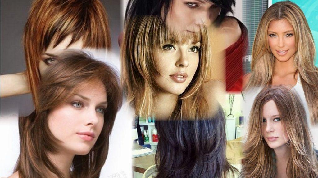Ступенчатая стрижка на средние волосы фото