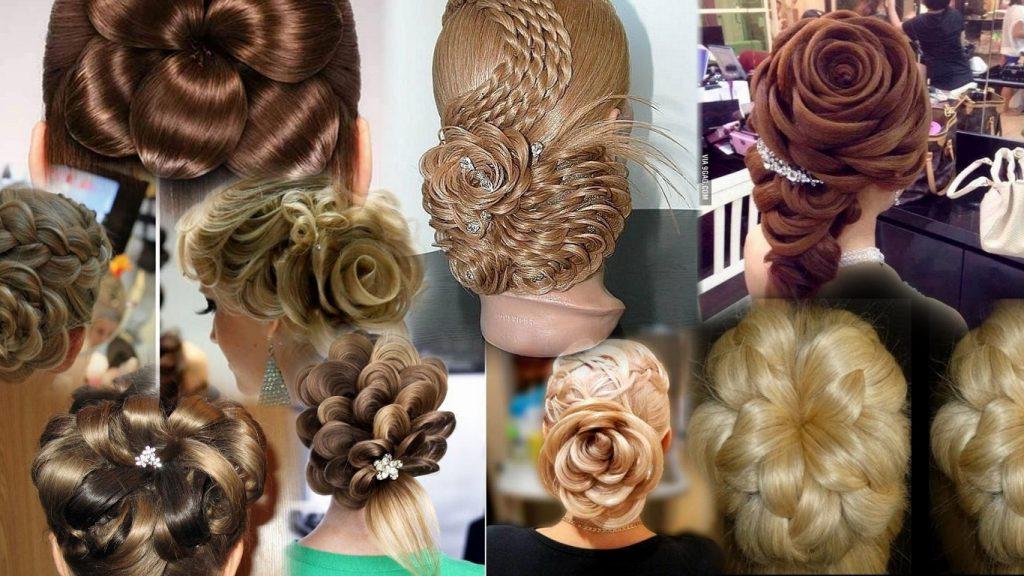 Цветы из волос прически фото
