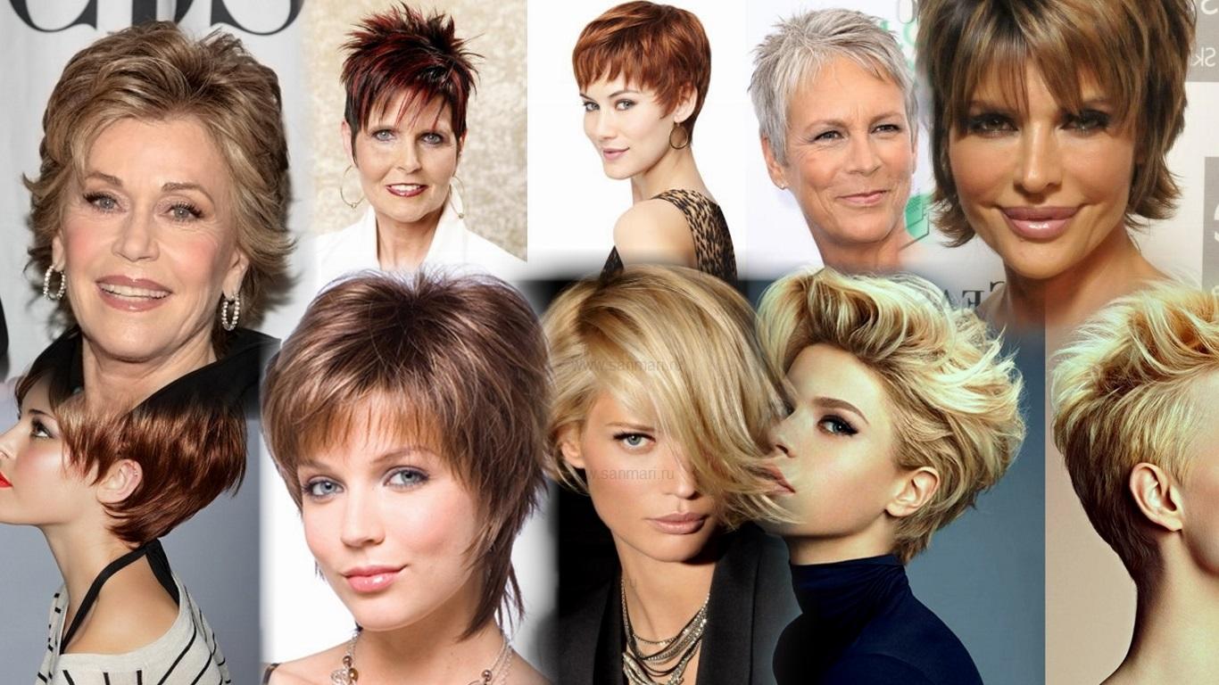 8 стрижки для круглого лица на короткие волосы.