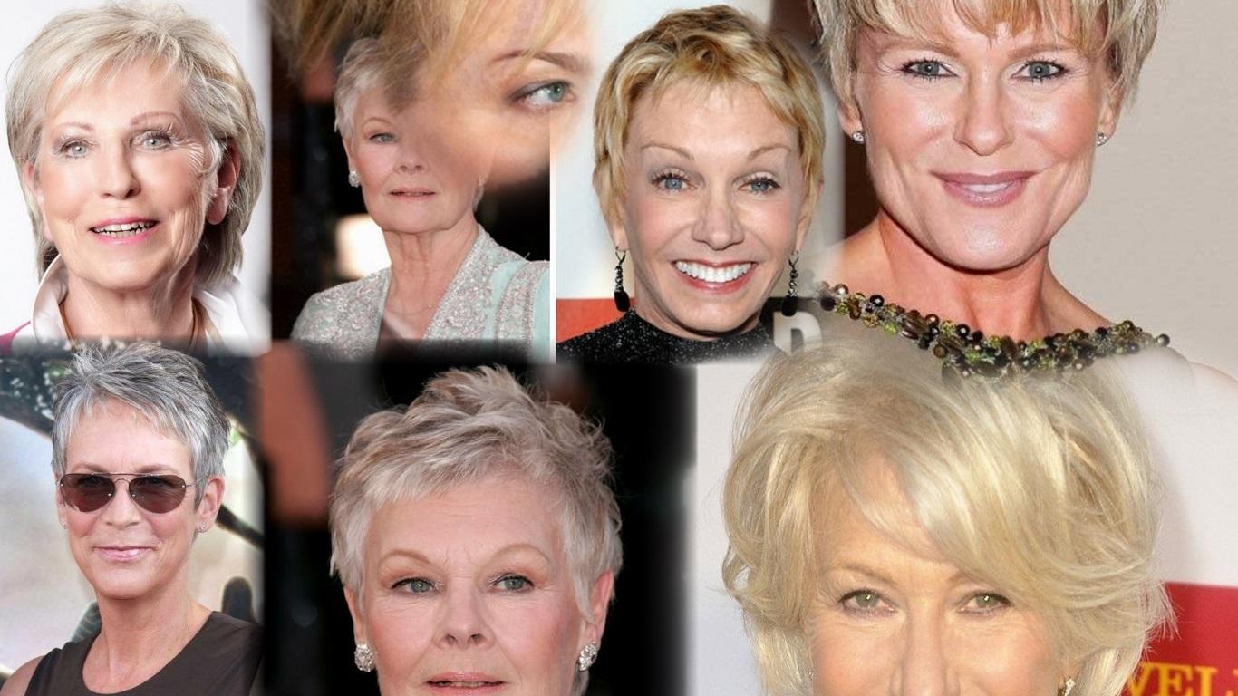Фото возрастных женщин и их причёски