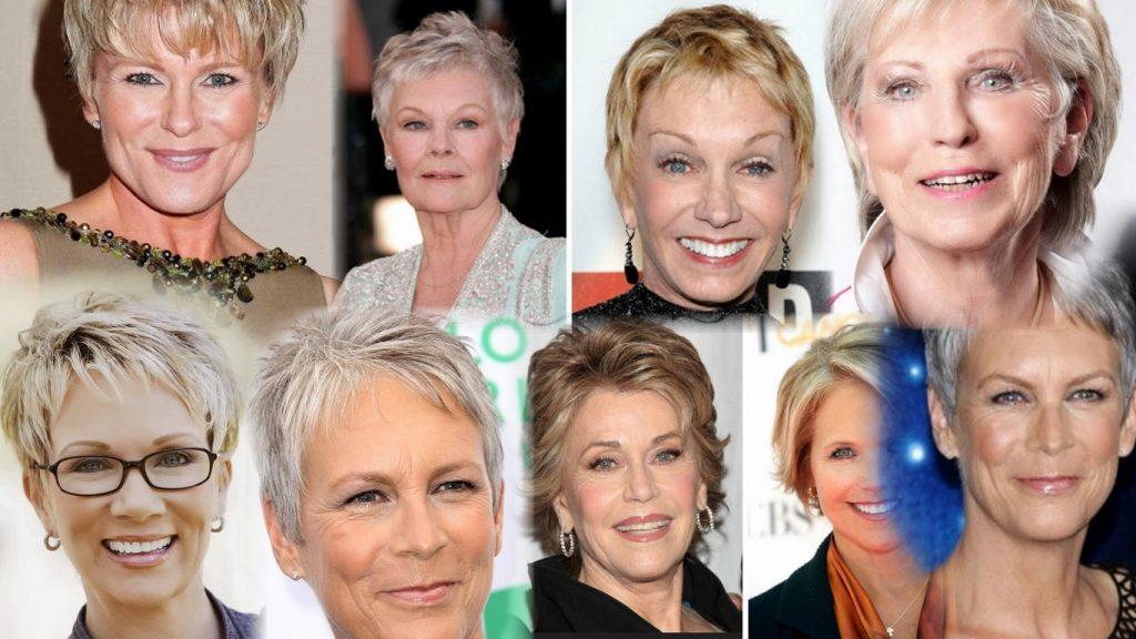 Короткие стрижки для пожилых женщин фото