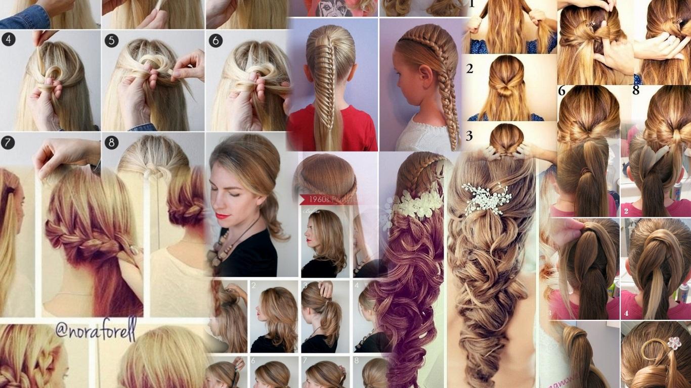 Причёски на средние волосы в домашних условиях пошагово фото 91