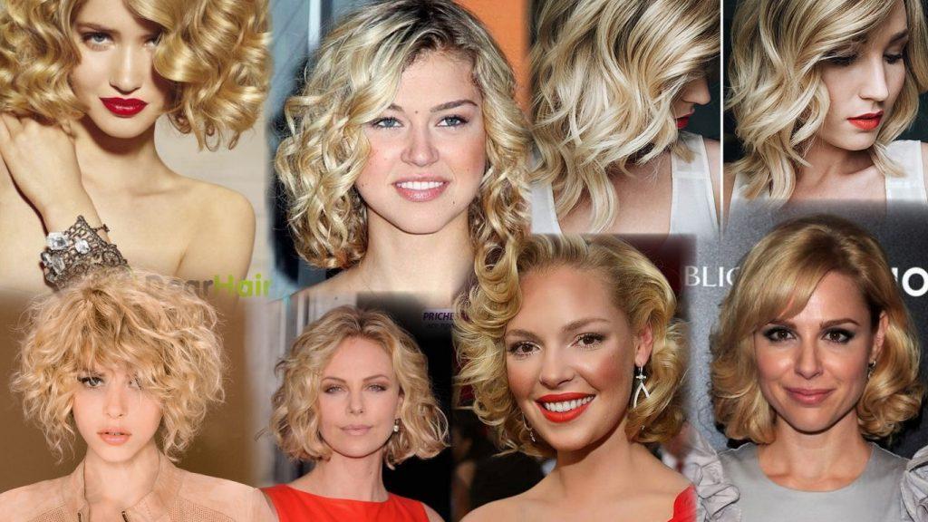 Прически на средние волосы без челки фото