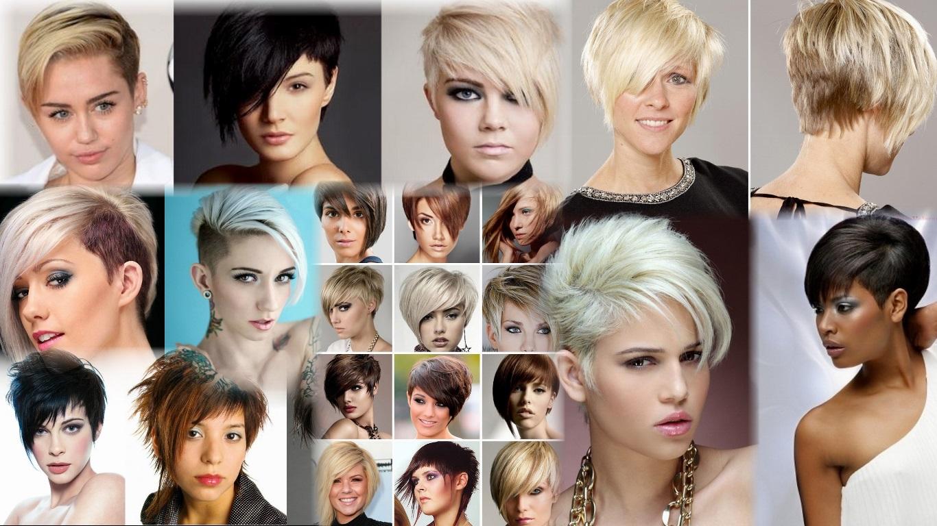 Ассиметричные стрижки на короткие и средние волосы