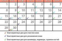 Благоприятные дни августа