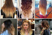 Окраска волос техникой омбре дома