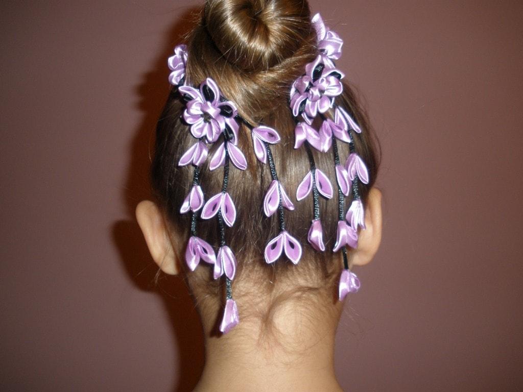 Как сделать резинку для волос своими руками с цветами фото 765