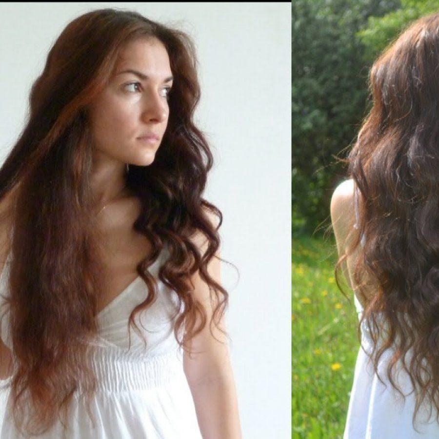 Лесенка на длинных тонких волосах фото две